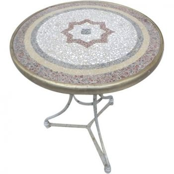 Mosaic Top Bistro Table from France