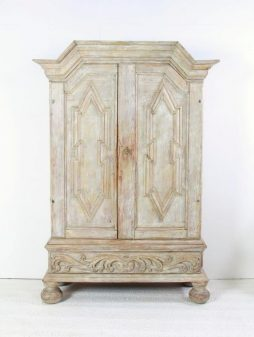 Rare Antique Swedish Period 18th Century Baroque Cabinet