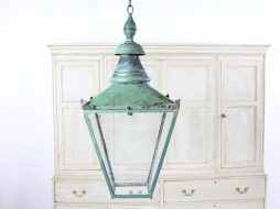Beautiful English Early 20thC Copper Lantern
