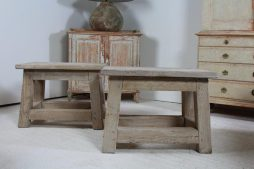 French Oak Sculpture side Tables