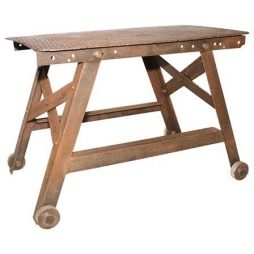 Antique Industrial Factory Table Trolley