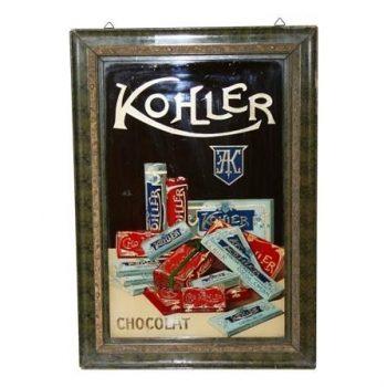 Antique Chocolate Cocoa Advertising Mirror Sign - POA