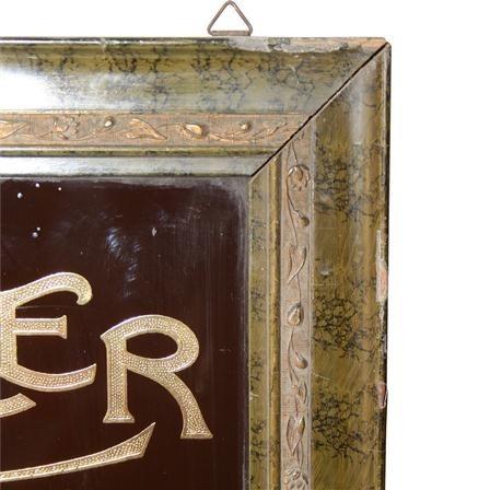 Antique Chocolate Cocoa Advertising Mirror Sign Poa