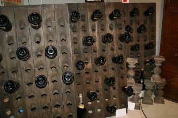 Oak Champagne Riddling Rack Bottle Holders from Reims France