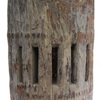 Decorative Antique Wooden Mill Block