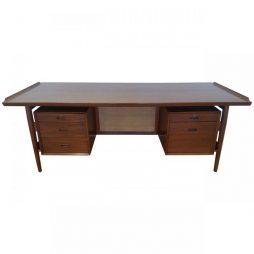 Arne Vodder Mid 20th Twentieth Century Design Large Teak Desk