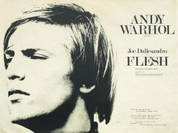 Andy Warhol Rare Original British Quad Movie Poster for Andy Warhol's Flesh 1968