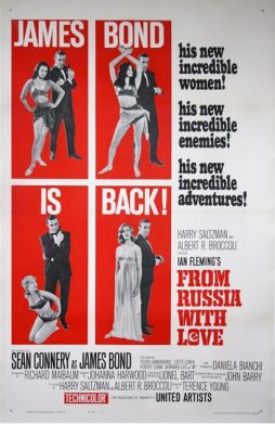 James Bond An Original American 'From Russia With Love' Poster, 1964