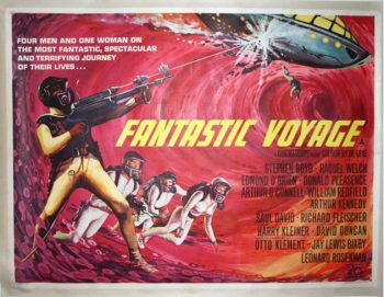 An Original British Movie Poster for 'Fantastic Voyage', 1968