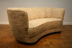 Danish 1940s Banana Sofa for re-upholstery