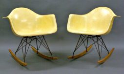 Pair of early Rope Edge RAR Chairs by Charles and Ray Eames