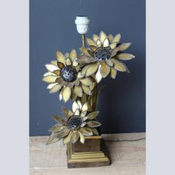 French Mid 20th Century Sunflower Lamp