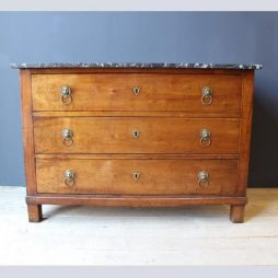 Antique 19th Century French Mahogany Marble Top Commode