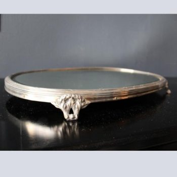 French 1930's Silver Plated Mirrored Table Centre