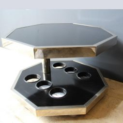 Mid-Century Octagonal Occasional Bar Table