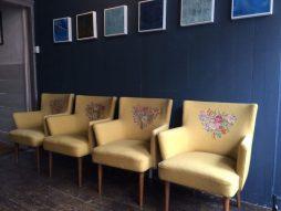 Pair of Italian Salon Chairs by Italian designer Piero Colli
