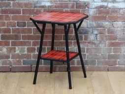 Victorian Ebonised and Tartan Bamboo Table