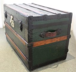 Antique Dark Green Travelling Chest
