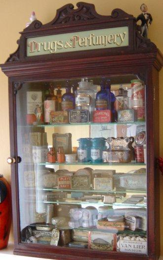 Large collection of Vintage Pharmaceutical Chemist Tins Bottles and Advertising - POA