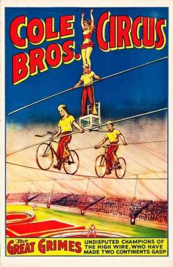 An Original American 1930s/40s Cole Brothers Circus Poster