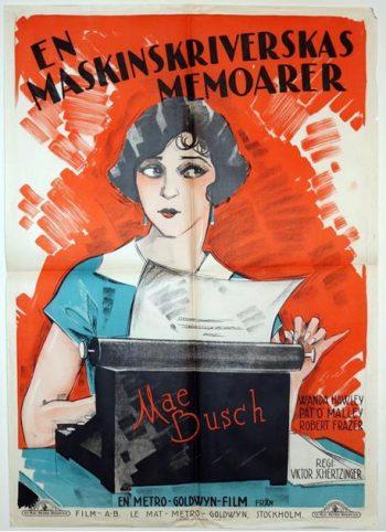 An Extremely Rare Swedish Film Poster for Bread (aka En Maskinskrverskas Memoarer), 1924
