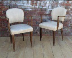 Pair Antique French 1930s Bridge Chairs
