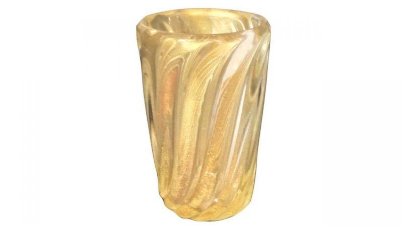 Large Murano Glass Vase By Archmede Seguso Poa Interior