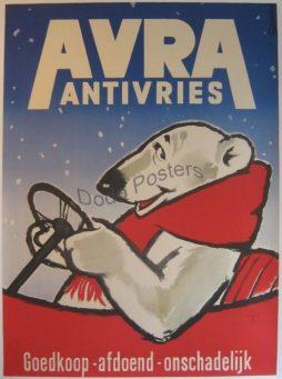 Vintage Avra Antivries Advertising Poster