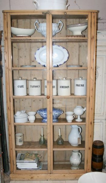 Antique Pine Kitchen Cupboard