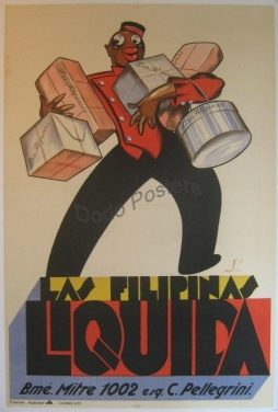 Antique Las Filipinas Liquida Advertising Poster by Artist Llau