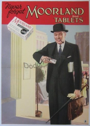 Vintage Moorland Tablets Advertising Poster
