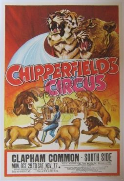 Vintage Chipperfields Circus Advertising Poster
