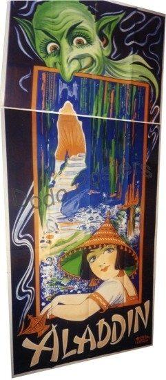 Antique Aladdin Theatre Cabaret Advertising Poster