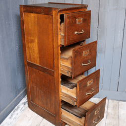 Early 20th Century Vintage Filing Cabinet