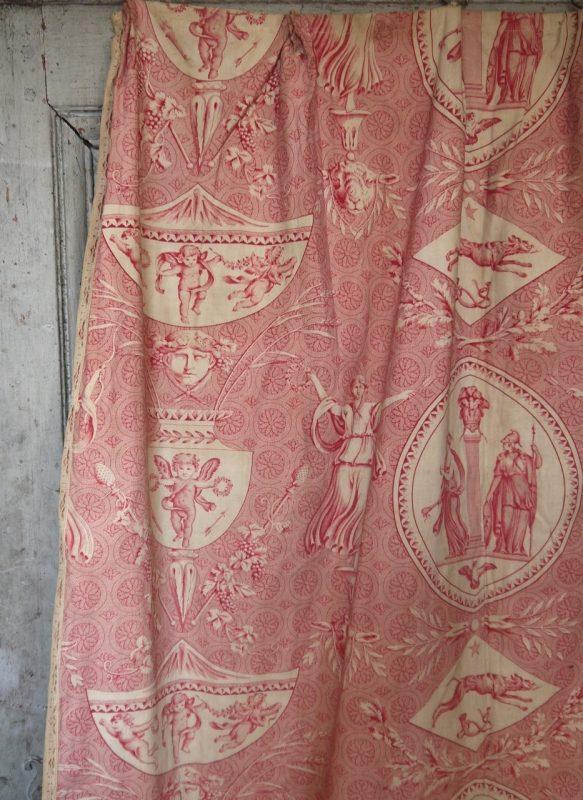 Rare Antique Toile De Jouy Curtains Interior Boutiques