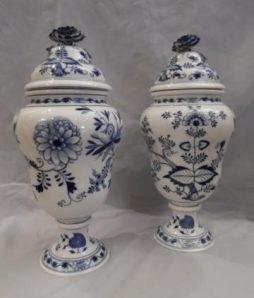 Antique Pair of Meissen Vases
