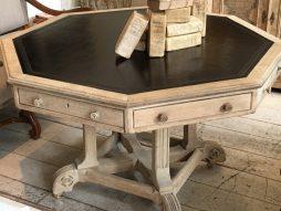 Irish Antique Octagonal Bleached Oak Table