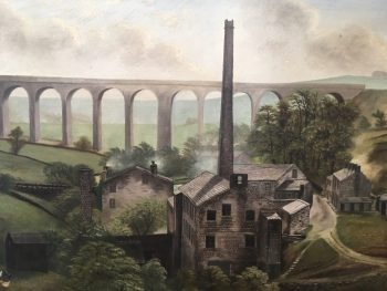 Denby Dale Viaduct Oil Painting by Hudson