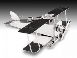 Silver-plated Bi-Plane Desk Companion by F. Reichenberg