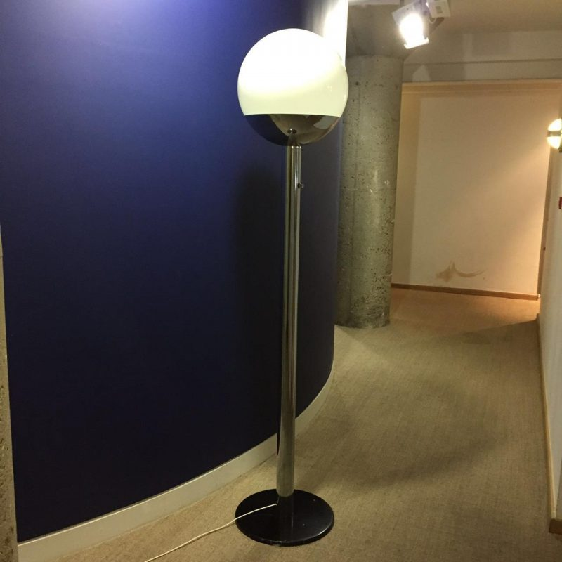 Luci milano floor lamp italy 1970s interior boutiques for Milano chrome floor lamp