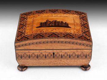 Antique Tunbridge Ware Sewing Box