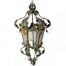 Delicate Antique 6 Sided Metal Lantern