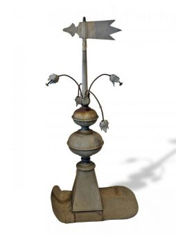 Early Antique French Roof Spire with Weather Pennant