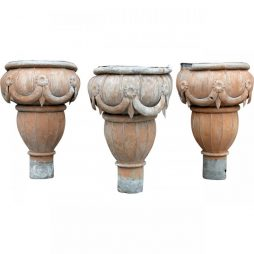 Set of 3 Antique Tolework Rainwater Hoppers from France