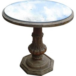 Antique Mirror Top Coffee Table from France