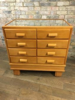 1950s Beech Vintage Drapers Counter