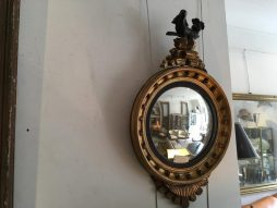 Antique Gilt Convex Mirror by Jackson of Dublin