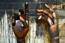 Fully Adjustable Vintage Wooden Hands on Stands - POA