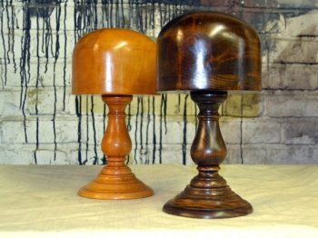 Mahogany and Beech Hat Blocks Display Stands - POA