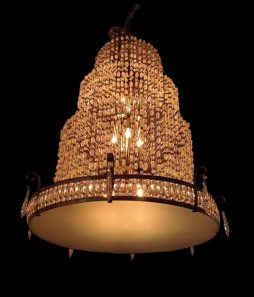 Large Decorative 1940s Light Fitting
